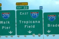 I-175 To Trop Road Sign
