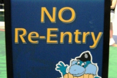No Re-Entry Sign