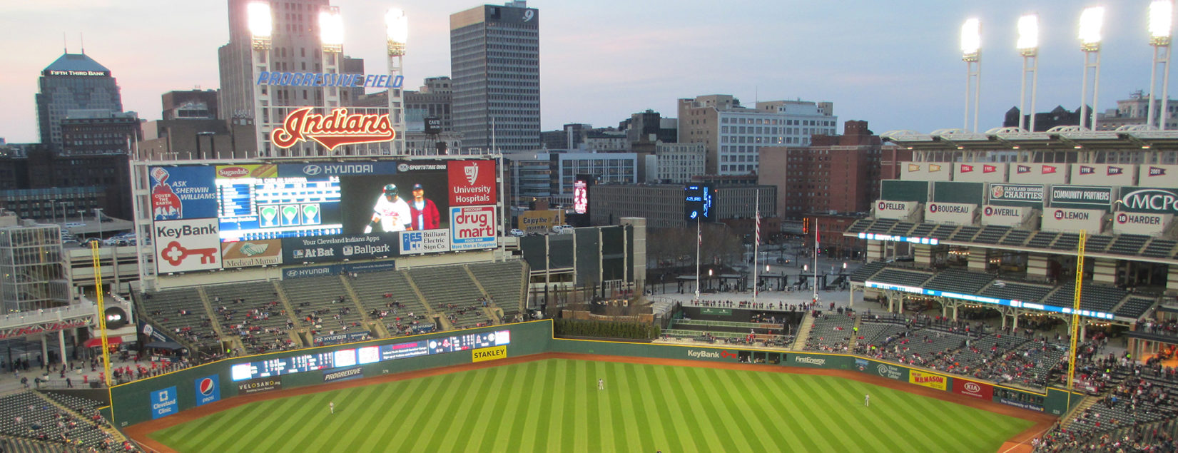 The Cleveland Indians Ballpark Progressive Field