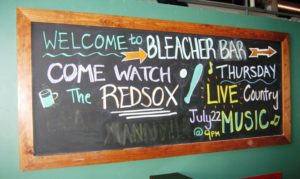 Fenway park tips bleacher bar