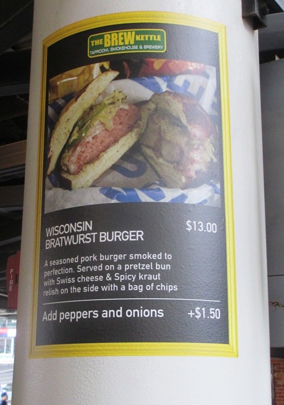 Progressive field food wisconsin brat burger