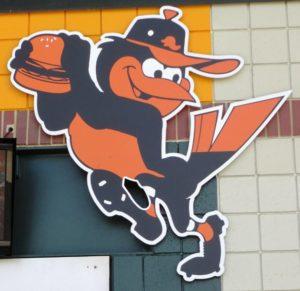 Memorial Stadium tribute cartoon bird