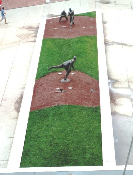 first professional baseball team statues