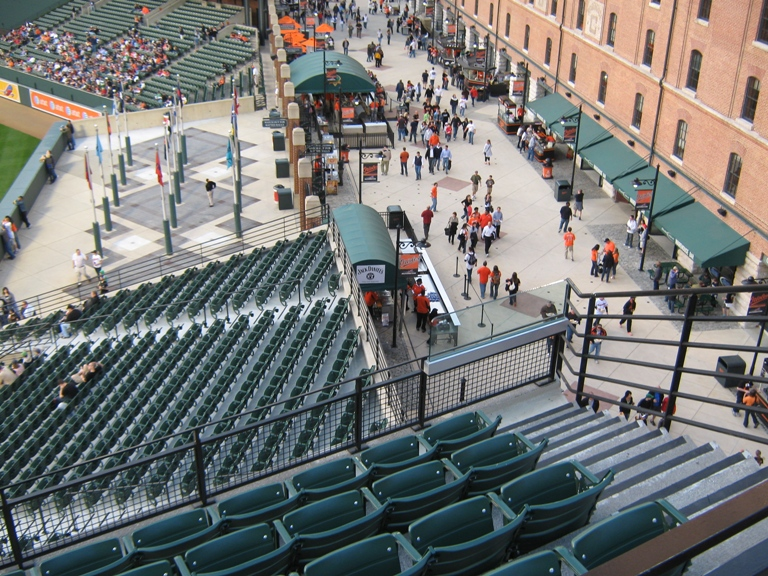 Camden Yards tips Eutaw Street