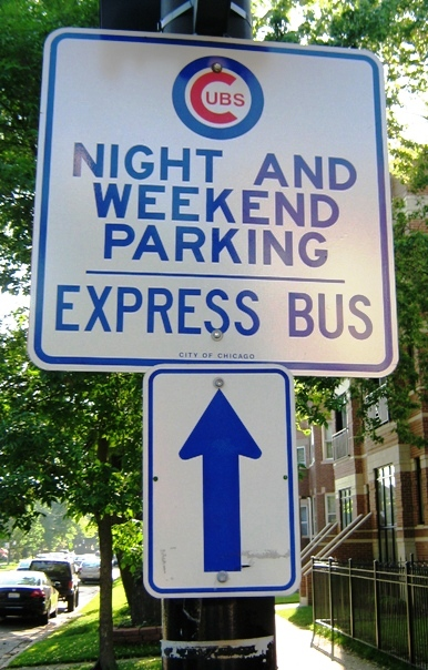 wrigley field parking express bus