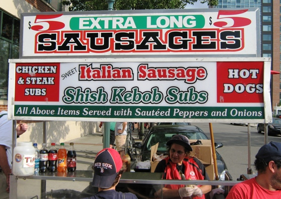 what to eat at fenway park sausages