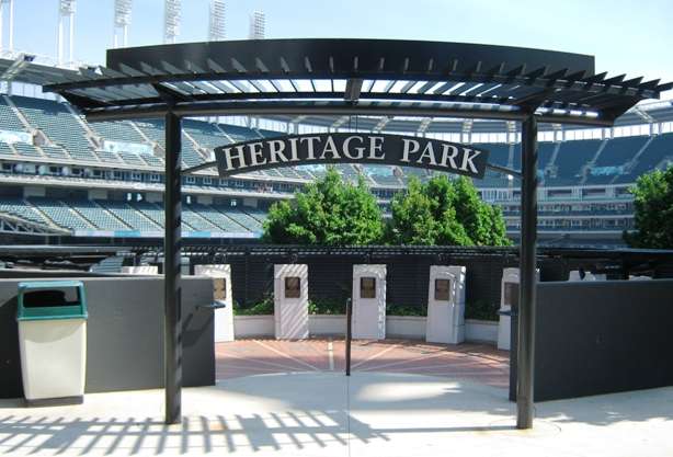 Progressive Field photo-ops heritage park