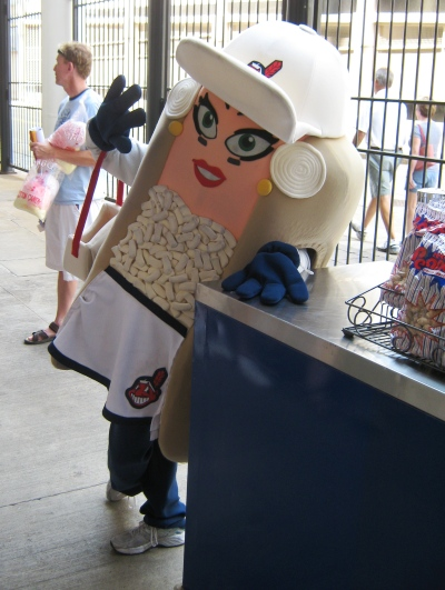 Progressive Field photo-ops mascot races