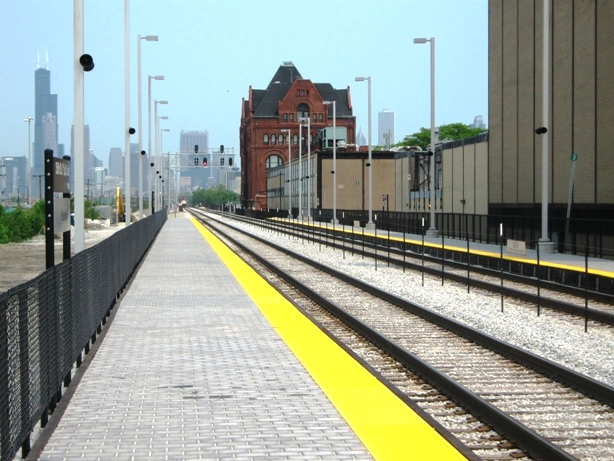 get to guaranteed rate field metra tracks