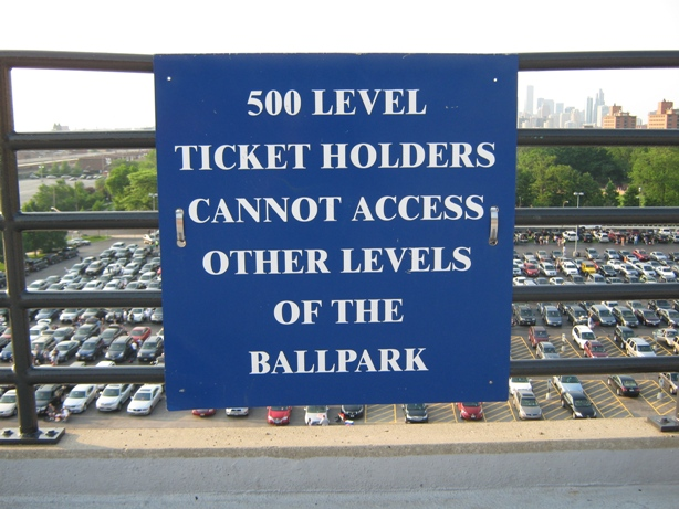 baseball seating Guaranteed Rate Field 500 level
