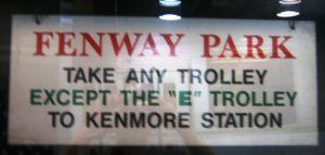 get to fenway park green line train