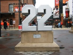 Camden Yards tips retired numbers