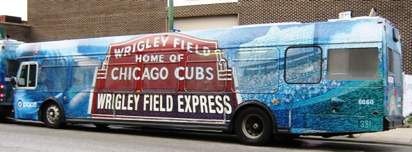 how to get to wrigley field express bus