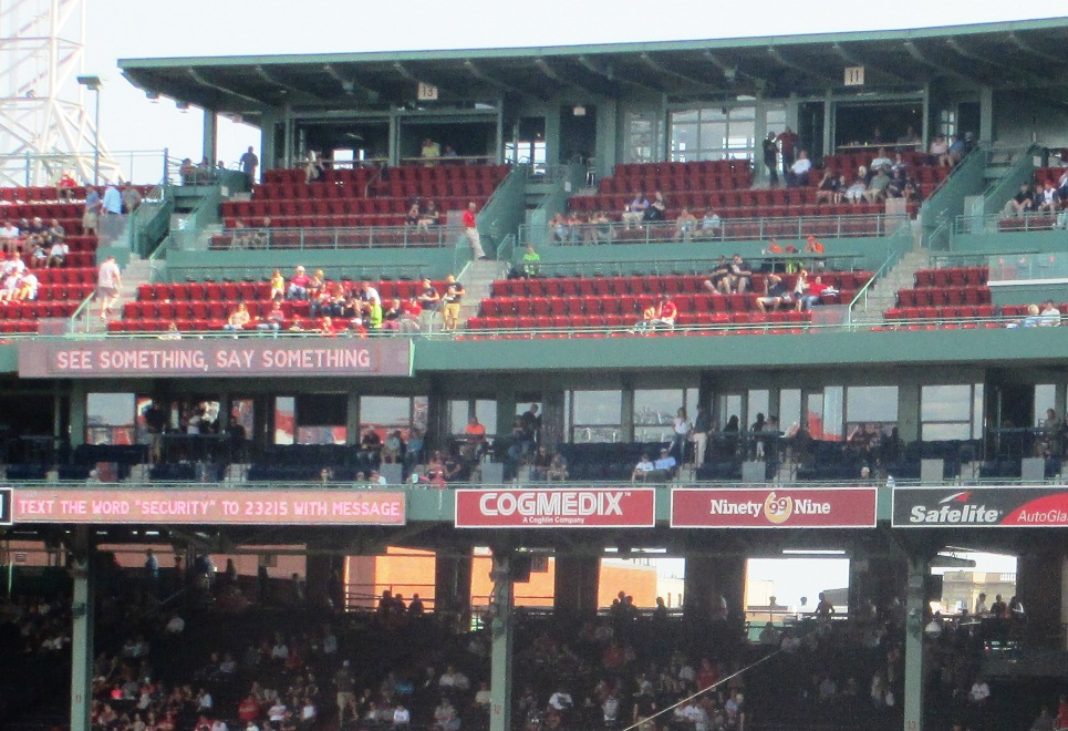 fenway park seating pavilion box