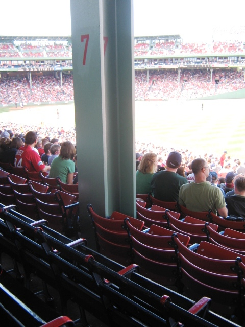 baseball seating fenway park obstructed views Loge