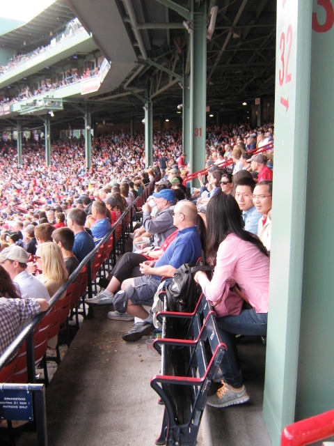 baseball seating fenway park obstructed views section 32