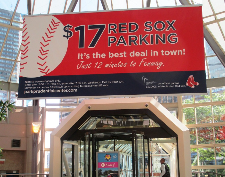baseball fan parking at prudential center