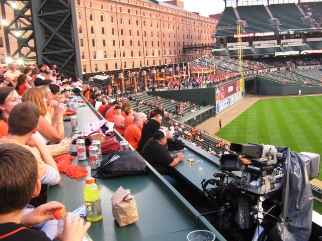 camden yards seating roof deck