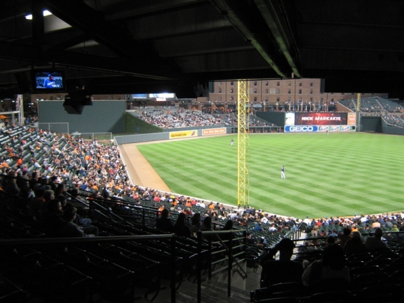 Camden Yards obstructed view