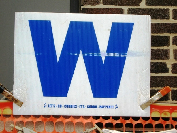 Cubs win blue w
