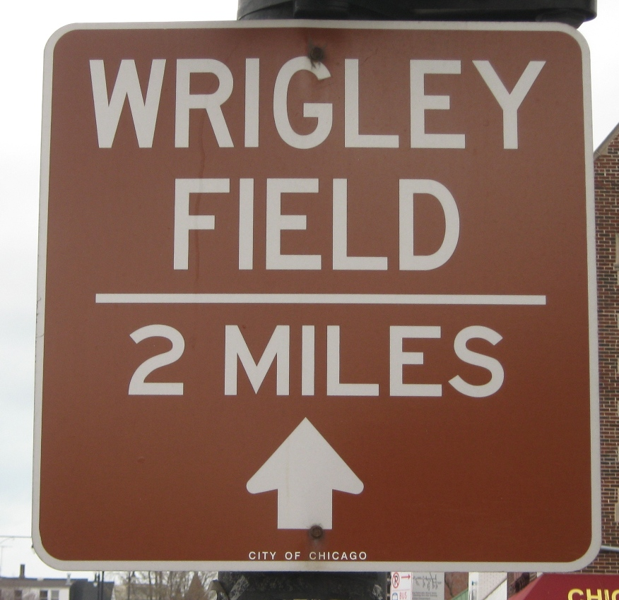 wrigley field parking sign