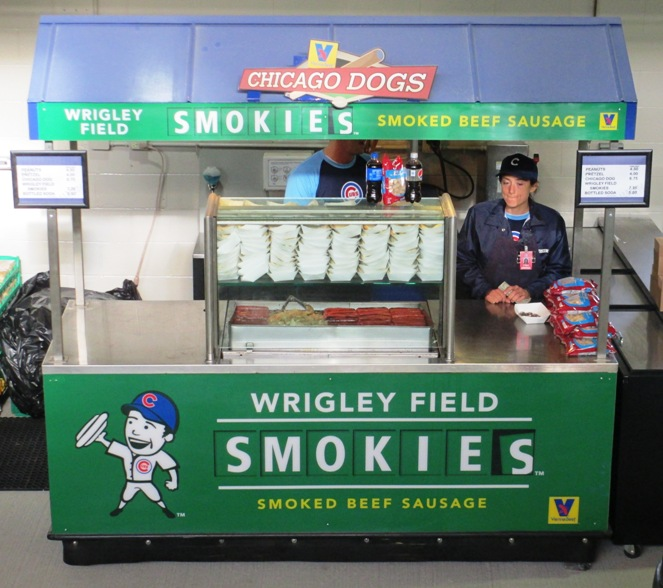 wrigley field food smokies