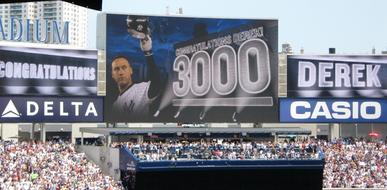 new yankee stadium jeter 3000