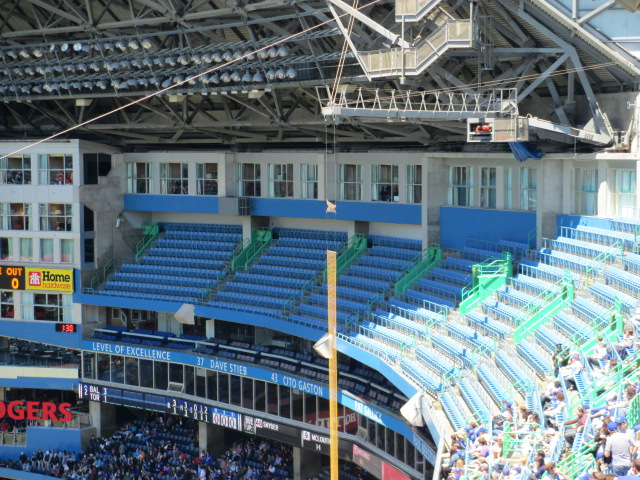 rogers centre seating 500 right field closed