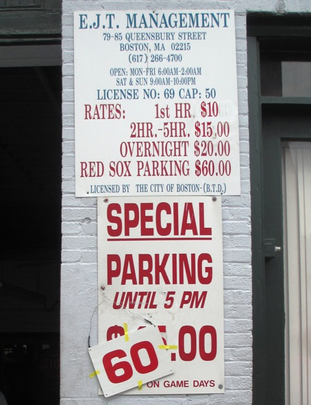 baseball parking 60 dollar parking