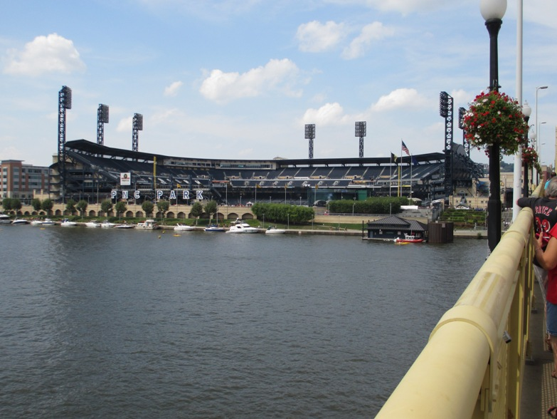 pnc park parking view from bridge