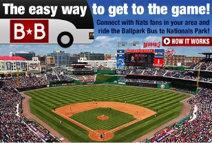 get to nationals park ballpark bus