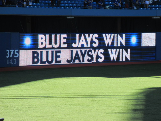 skydome blue jays win