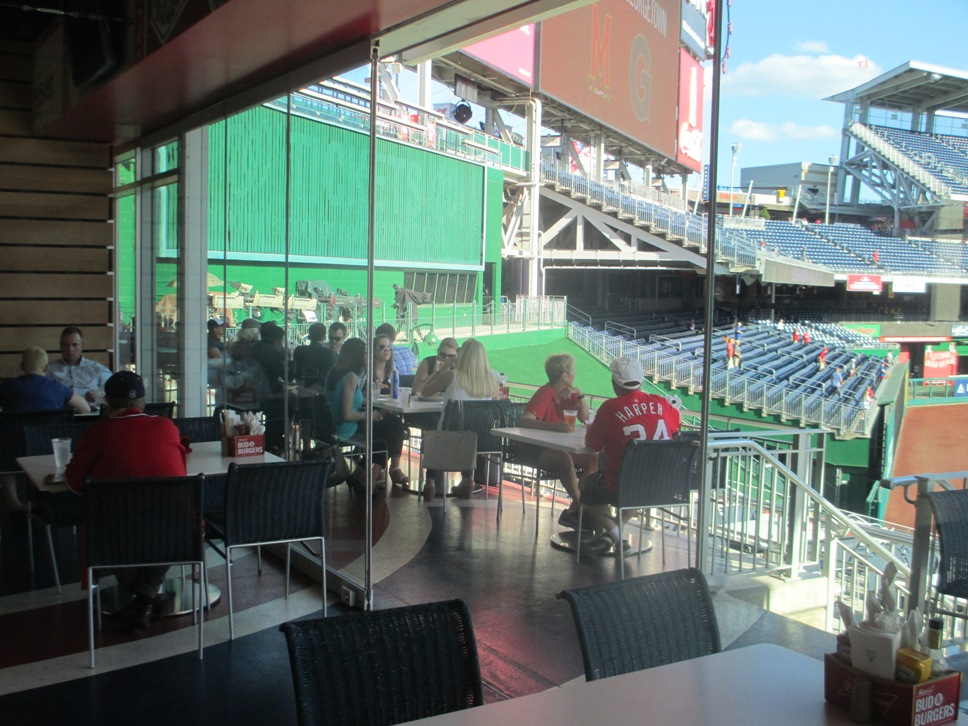 nationals park seating bud brew house