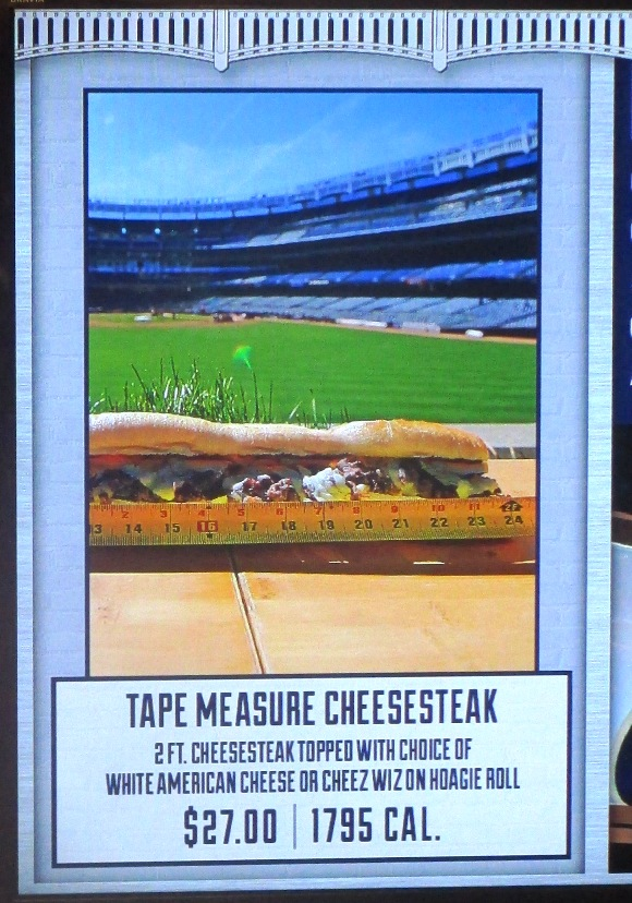 yankee stadium food options tape measure