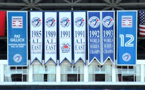 skydome blue jays pennants