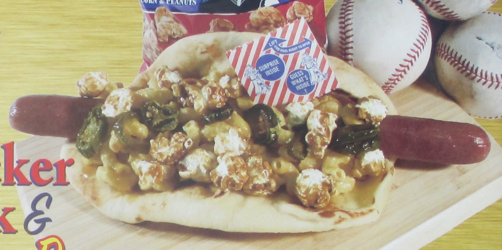 pnc park food cracker jack and mac dog