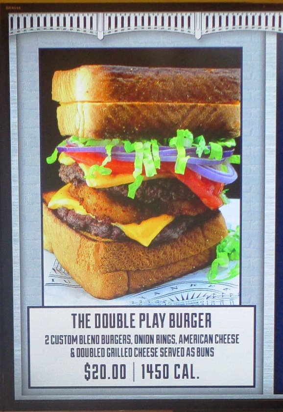 food at yankee stadium double play burger