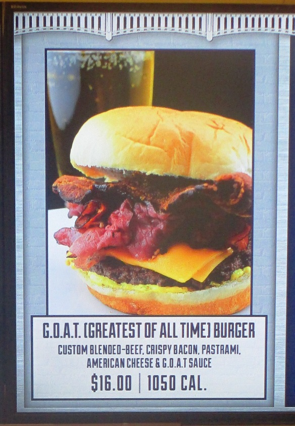 yankee stadium options GOAT burger