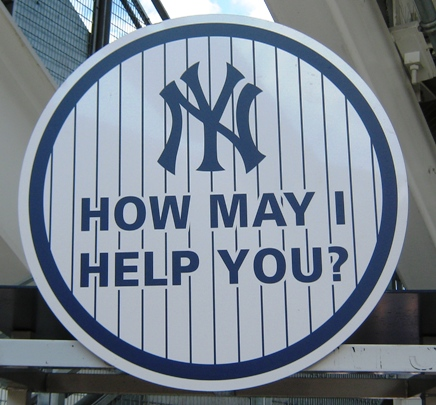 new yankee stadium help sign