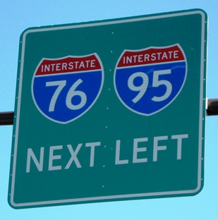 best way to get to citizens bank park i-76 i-95