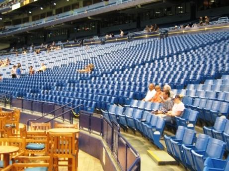 tropicana field seating left field