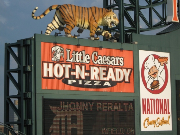 what to eat at comerica park little caesars