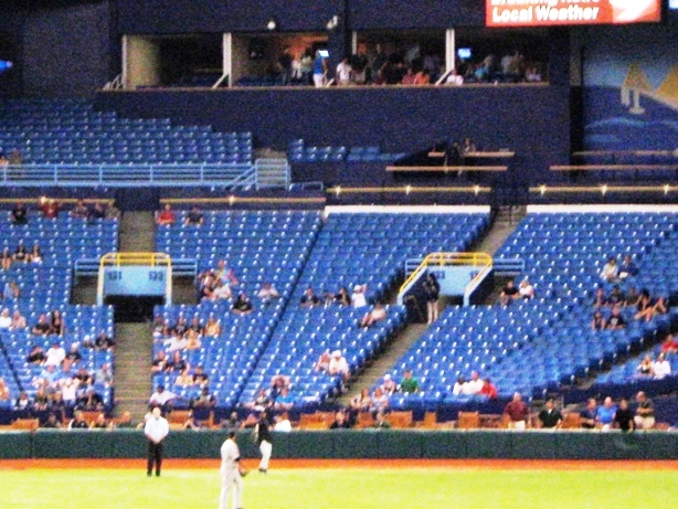 tropicana field seating lower level