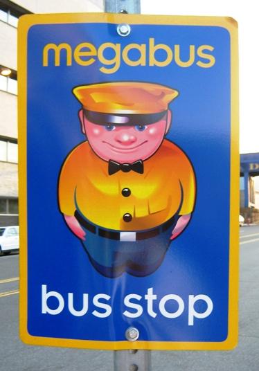 megabus stop sign