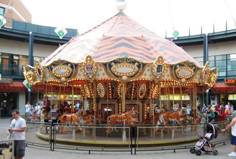 visiting comerica park merry go round