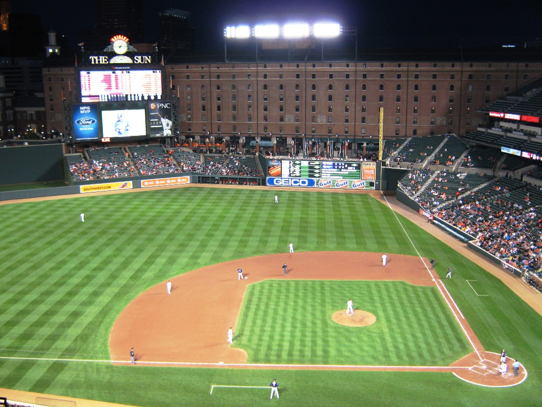 baseball seating camden yards upper level