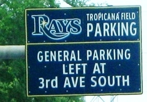 tropicana field parking