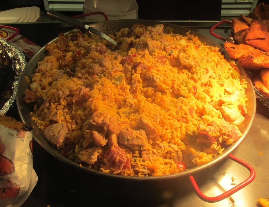 tropicana field food chicken paella