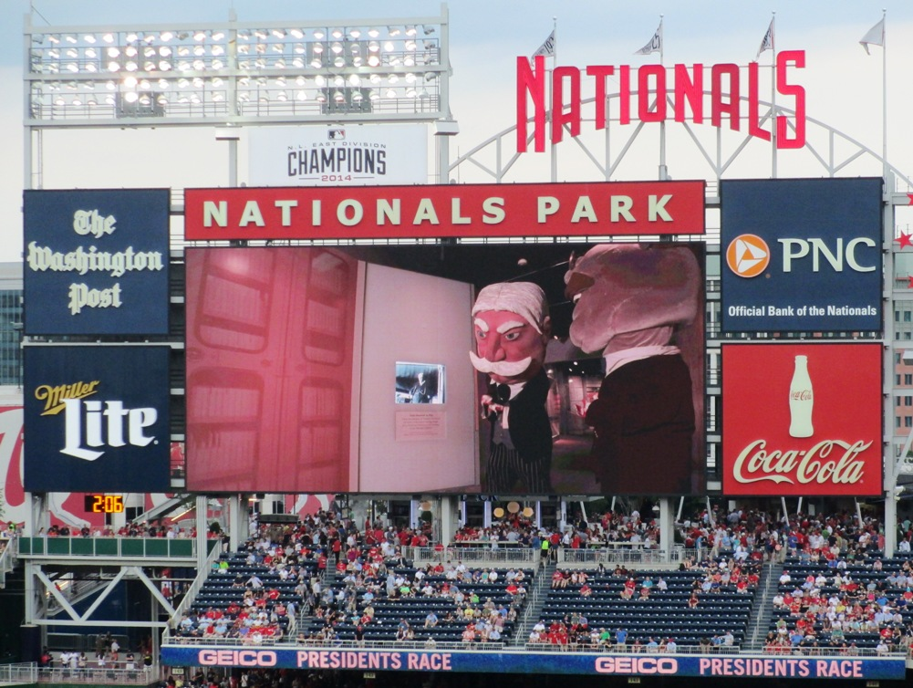 nationals park tips presidents race