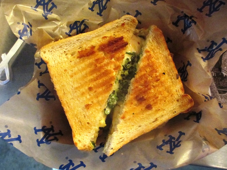 food at citi field pressed grilled cheese